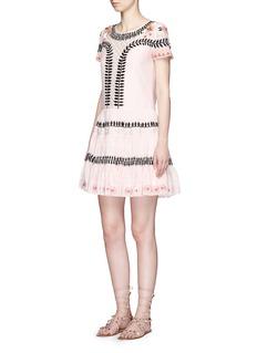 Temperley London'Arabelle' embroidered cotton-silk dress