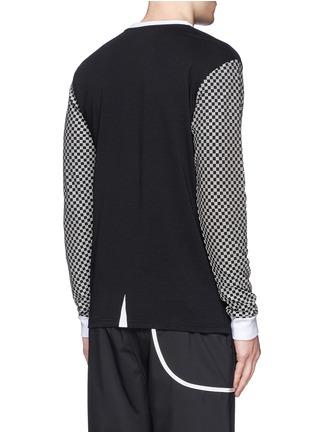 背面 - 点击放大 - ICNY - 方格及品牌标志反光图案卫衣