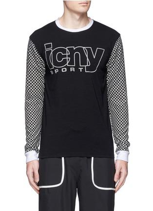 首图 - 点击放大 - ICNY - 方格及品牌标志反光图案卫衣