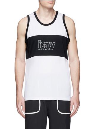 Icny-Reflective print sports tank