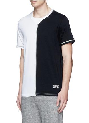 正面 -点击放大 - ICNY - 拼色反光镶边混棉T恤