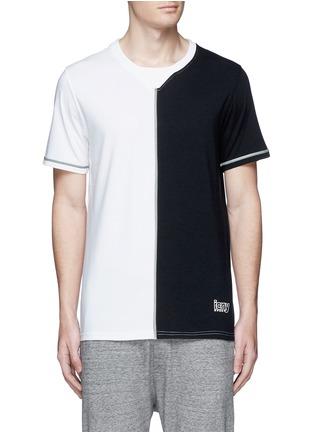 首图 - 点击放大 - ICNY - 拼色反光镶边混棉T恤