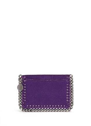Main View - Click To Enlarge - Stella McCartney - 'Falabella' chain border card holder