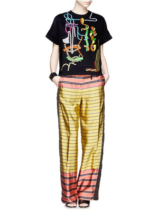 Figure View - Click To Enlarge - Peter Pilotto - Rope embroidery jewel appliqué sweatshirt