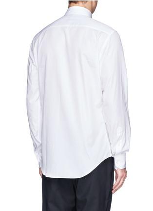 Back View - Click To Enlarge - Lanvin - Grosgrain placket trim poplin shirt