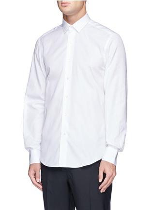 Front View - Click To Enlarge - Lanvin - Grosgrain placket trim poplin shirt