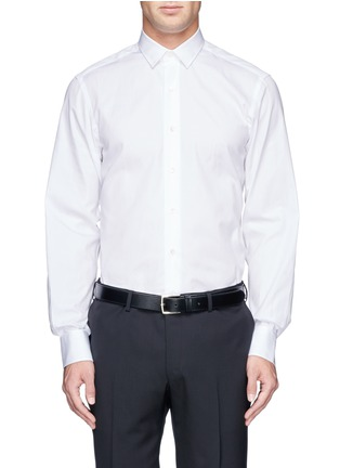 Main View - Click To Enlarge - Lanvin - Grosgrain placket trim poplin shirt