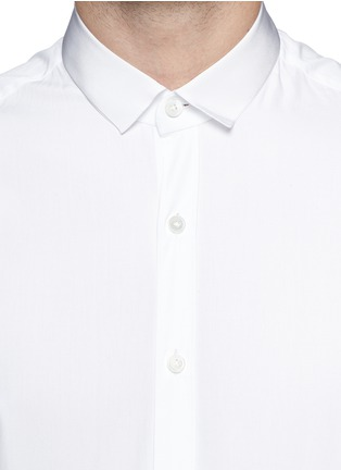 Detail View - Click To Enlarge - Lanvin - Grosgrain collar cotton poplin shirt