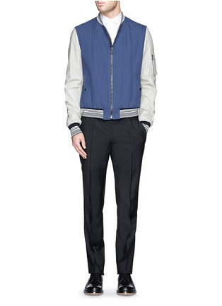 Figure View - Click To Enlarge - Lanvin - Grosgrain collar cotton poplin shirt