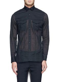 LANVINSemi-sheer cotton check shirt