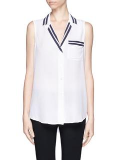 EQUIPMENTKeira stripe detail sleeveless shirt