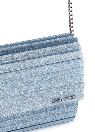 Detail View - Click To Enlarge - Jimmy Choo - 'Sweetie' glitter acrylic chain clutch