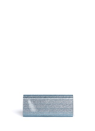 Back View - Click To Enlarge - Jimmy Choo - 'Sweetie' glitter acrylic chain clutch