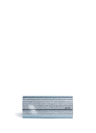 Main View - Click To Enlarge - Jimmy Choo - 'Sweetie' glitter acrylic chain clutch