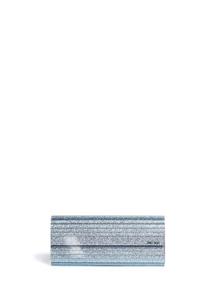 JIMMY CHOO-'Sweetie' glitter acrylic chain clutch
