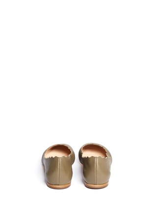 Back View - Click To Enlarge - Chloé - Scalloped edge leather flats