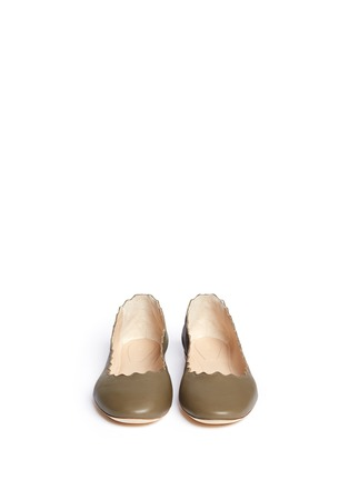 Figure View - Click To Enlarge - Chloé - Scalloped edge leather flats