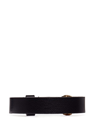 Back View - Click To Enlarge - Alexander McQueen - Skull leather bracelet