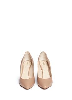 CHLOÉMetal plate heel leather pumps