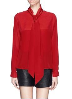 SEE BY CHLOÉScarf collar combo silk top
