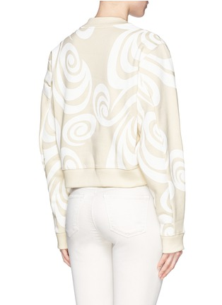 Back View - Click To Enlarge - Acne Studios - 'Bird Allover' spiral print cropped sweatshirt