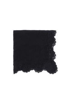 FALIERO SARTI'Camelia' lace border wool-cashmere scarf