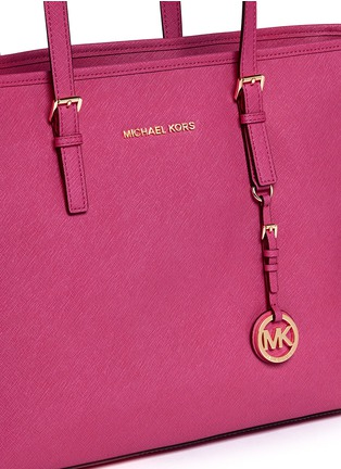 Detail View - Click To Enlarge - Michael Kors - 'Jet Set Travel' medium saffiano leather tote