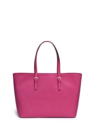 Back View - Click To Enlarge - Michael Kors - 'Jet Set Travel' medium saffiano leather tote