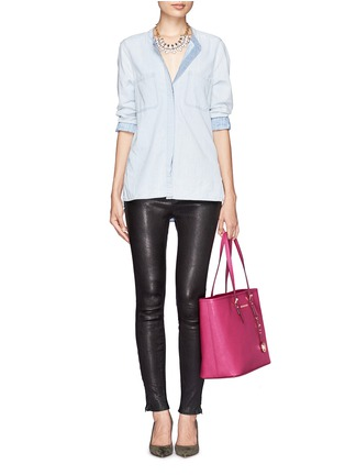 Figure View - Click To Enlarge - Michael Kors - 'Jet Set Travel' medium saffiano leather tote