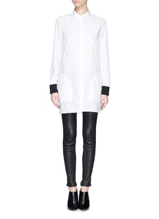 ACNE STUDIOS'Lyric Rib' contrast cuff cotton poplin shirt