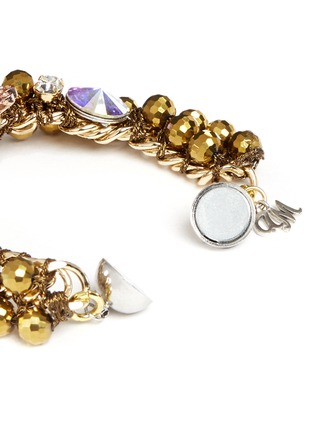 Detail View - Click To Enlarge - MOUNSER - Floral rhinestone bracelet
