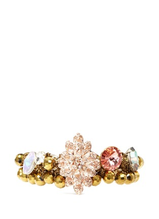 Main View - Click To Enlarge - MOUNSER - Floral rhinestone bracelet