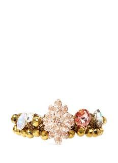 ASSAD MOUNSERFloral rhinestone bracelet