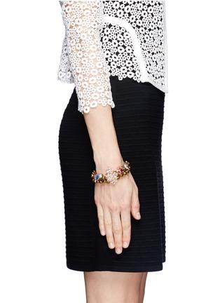 Figure View - Click To Enlarge - MOUNSER - Floral rhinestone bracelet