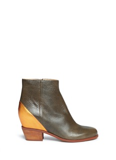 MM6 MAISON MARTIN MARGIELA Inner wedge leather ankle boots