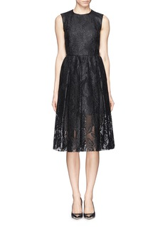 MSGMLacquer lace flare dress