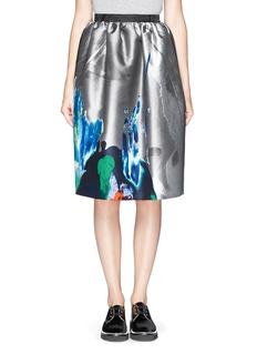 MSGMPaint print jacquard skirt