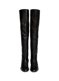 REED KRAKOFF'Flat Oxford' patent trim leather boots