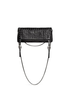 THOMAS WYLDE Skull stud flap front leather bag