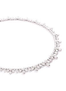 Lazare Kaplan Diamond 18k white gold necklace