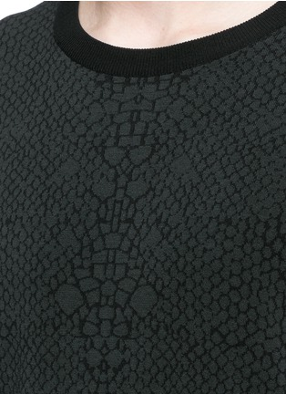 Detail View - Click To Enlarge - Lanvin - Snake jacquard crew neck sweater
