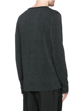 Back View - Click To Enlarge - Lanvin - Snake jacquard crew neck sweater
