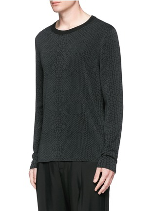 Front View - Click To Enlarge - Lanvin - Snake jacquard crew neck sweater