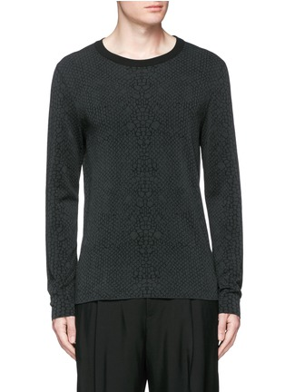 Main View - Click To Enlarge - Lanvin - Snake jacquard crew neck sweater