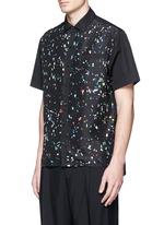 Starlight print front silk bowling shirt