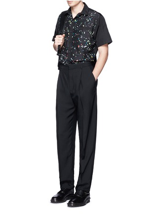 Figure View - Click To Enlarge - Lanvin - Starlight print front silk bowling shirt