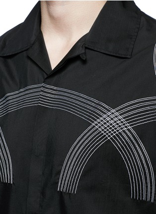 Detail View - Click To Enlarge - Lanvin - Curve embroidery cotton-silk shirt