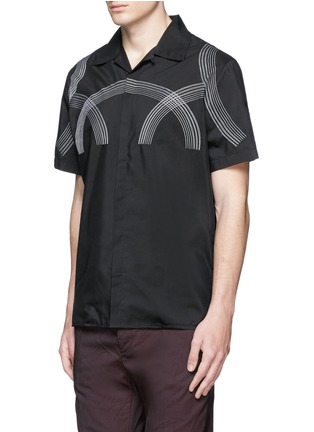 Front View - Click To Enlarge - Lanvin - Curve embroidery cotton-silk shirt