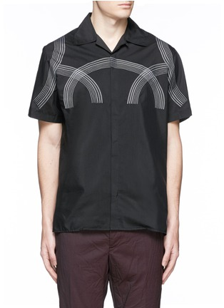 Main View - Click To Enlarge - Lanvin - Curve embroidery cotton-silk shirt