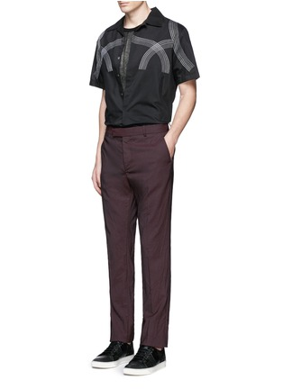 Figure View - Click To Enlarge - Lanvin - Curve embroidery cotton-silk shirt